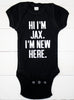 New Baby Boy Bodysuit Welcome Set - Custom Name