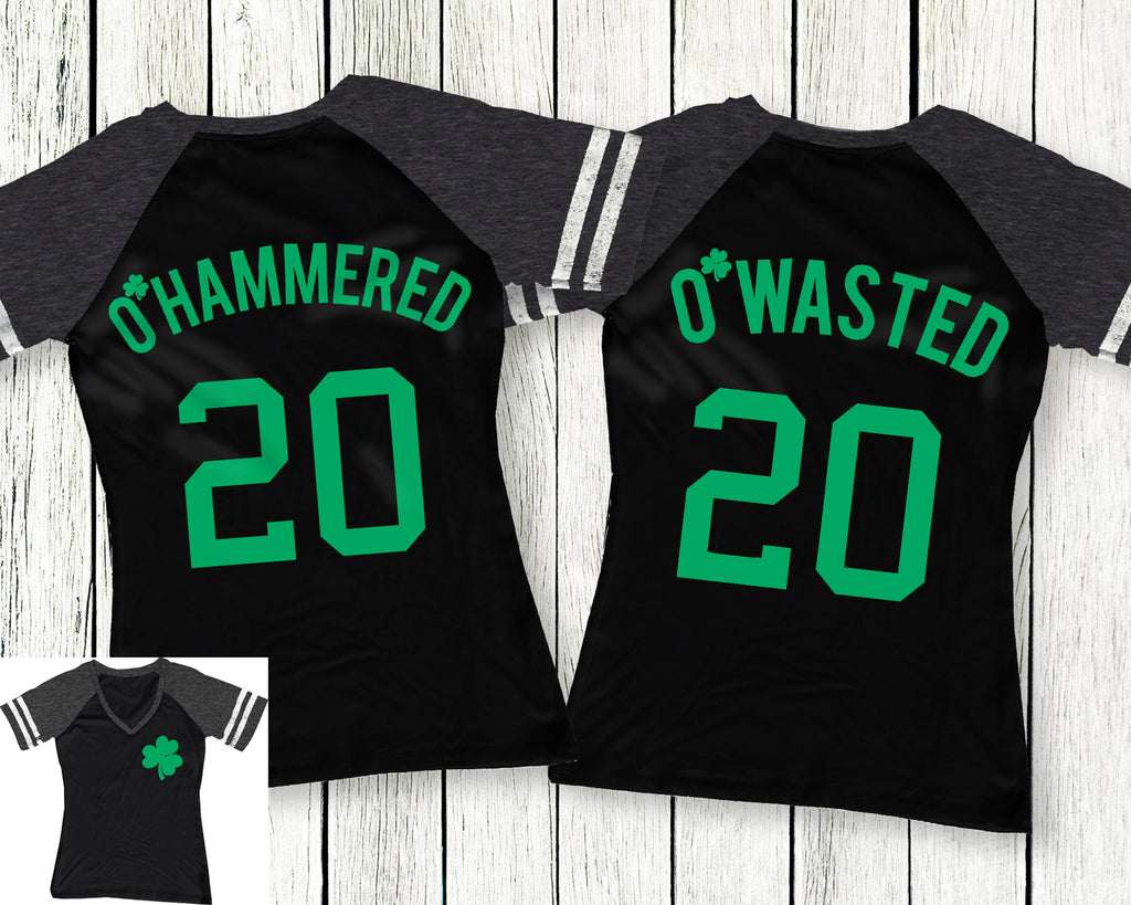 O'Wasted St. Patrick's Day Drinking Team Black Shirt - 6 Names to Pick