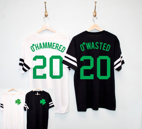 O'Wasted St. Patrick's Day Men's Shirt - 5 Names to Pick Drinking Team