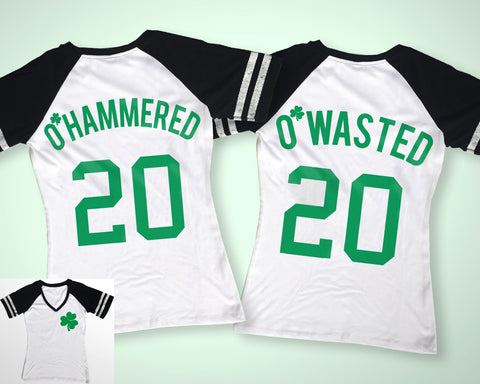 O'Wasted St. Patrick's Day Drinking Team Shirt - 6 Names to Pick