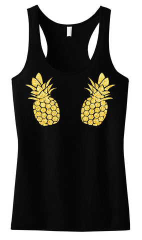 PINEAPPLE Bikini Gold Glitter Tank Top - Pick Color