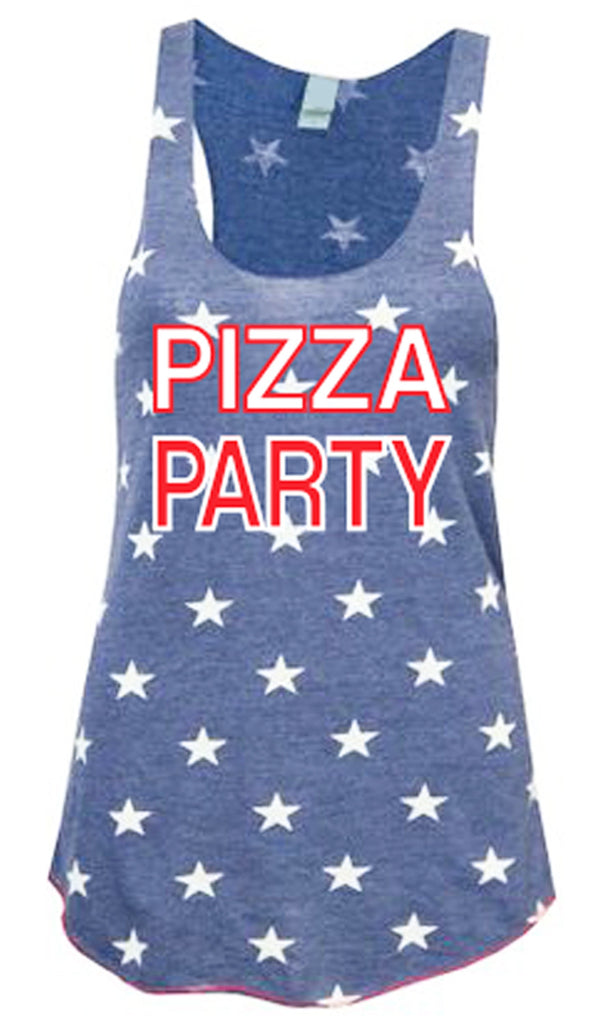 PIZZA PARTY Blue Stars Tank Top