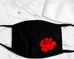 RED ROSE Adult Face Mask with Filter Pocket and 1 Filter Included