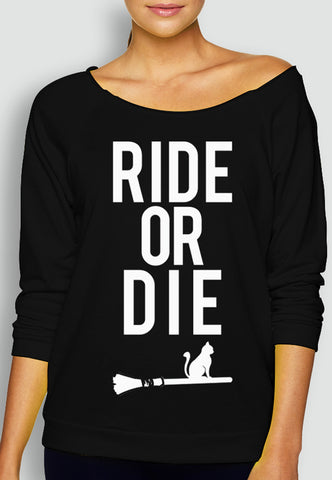 HALLOWEEN RIDE or DIE Long Sleeve Sweater