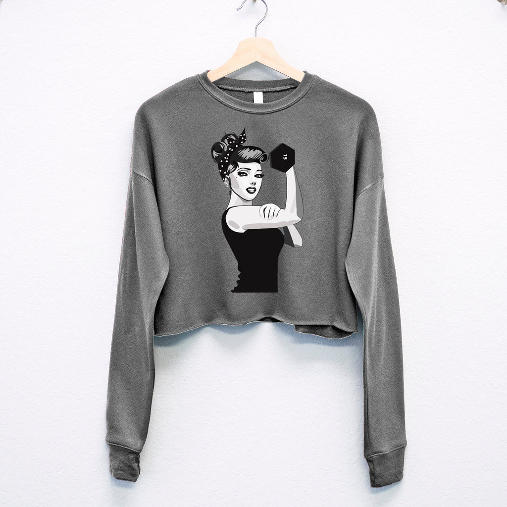 ROSIE the RIVETER CROPPED Sweater