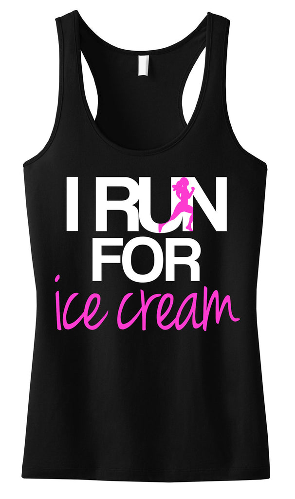 I RUN for Ice Cream Tank Top