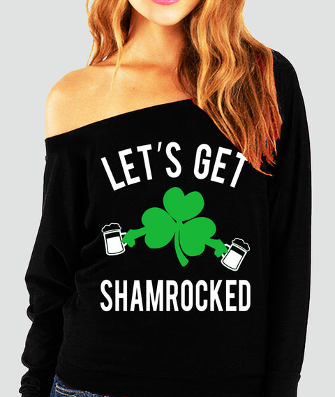 Let's Get Shamrocked Off-Shoulder Sweatshirt