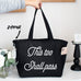 This Too Shall Pass Grocery Zipper Tote Bag