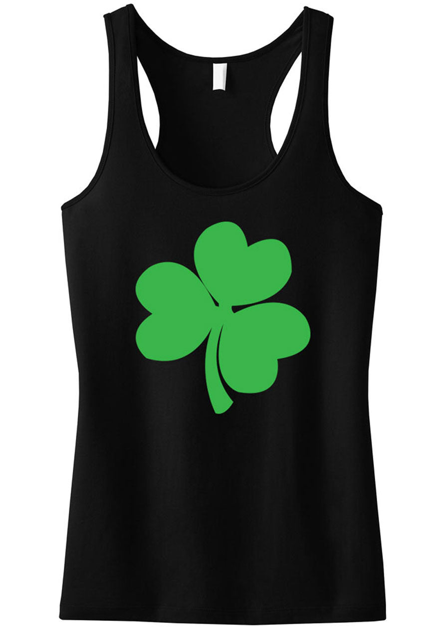 St. Patty's Shamrock Tank Top - Black