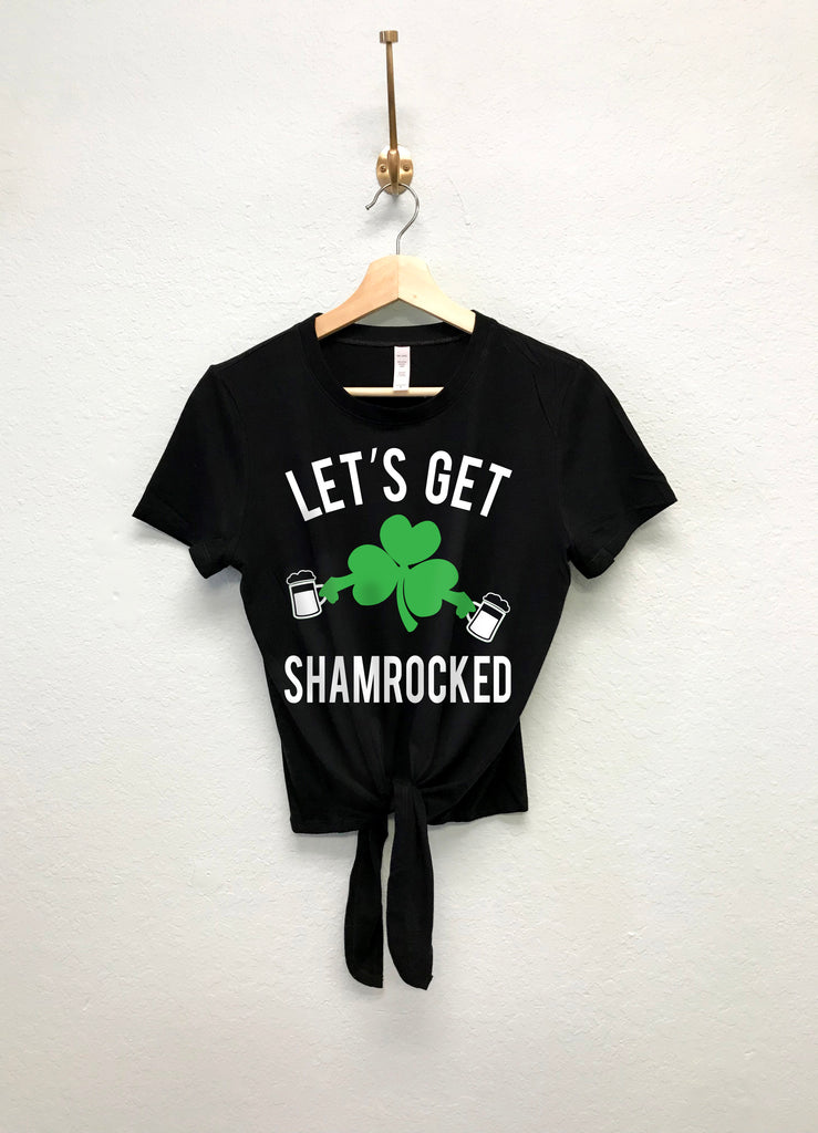 2517064b LET'S GET SHAMROCKED St. Patty's Day Crop Top Shirt. Images / 1 / 2 / 3 / 4