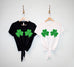 SHAMROCKS BIKINI St Patrick's Day Shirt Crop Top