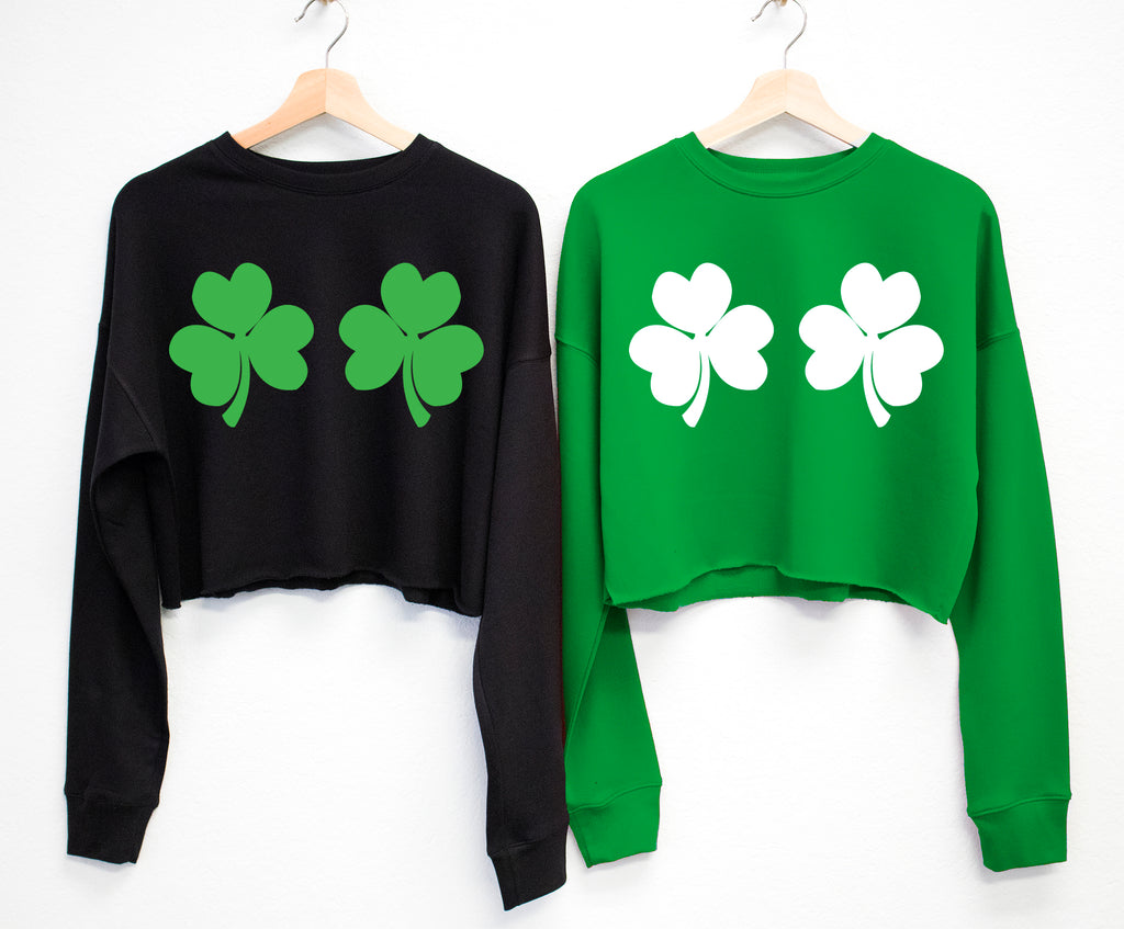 SHAMROCKS BIKINI St. Patrick's Day Cropped Sweater