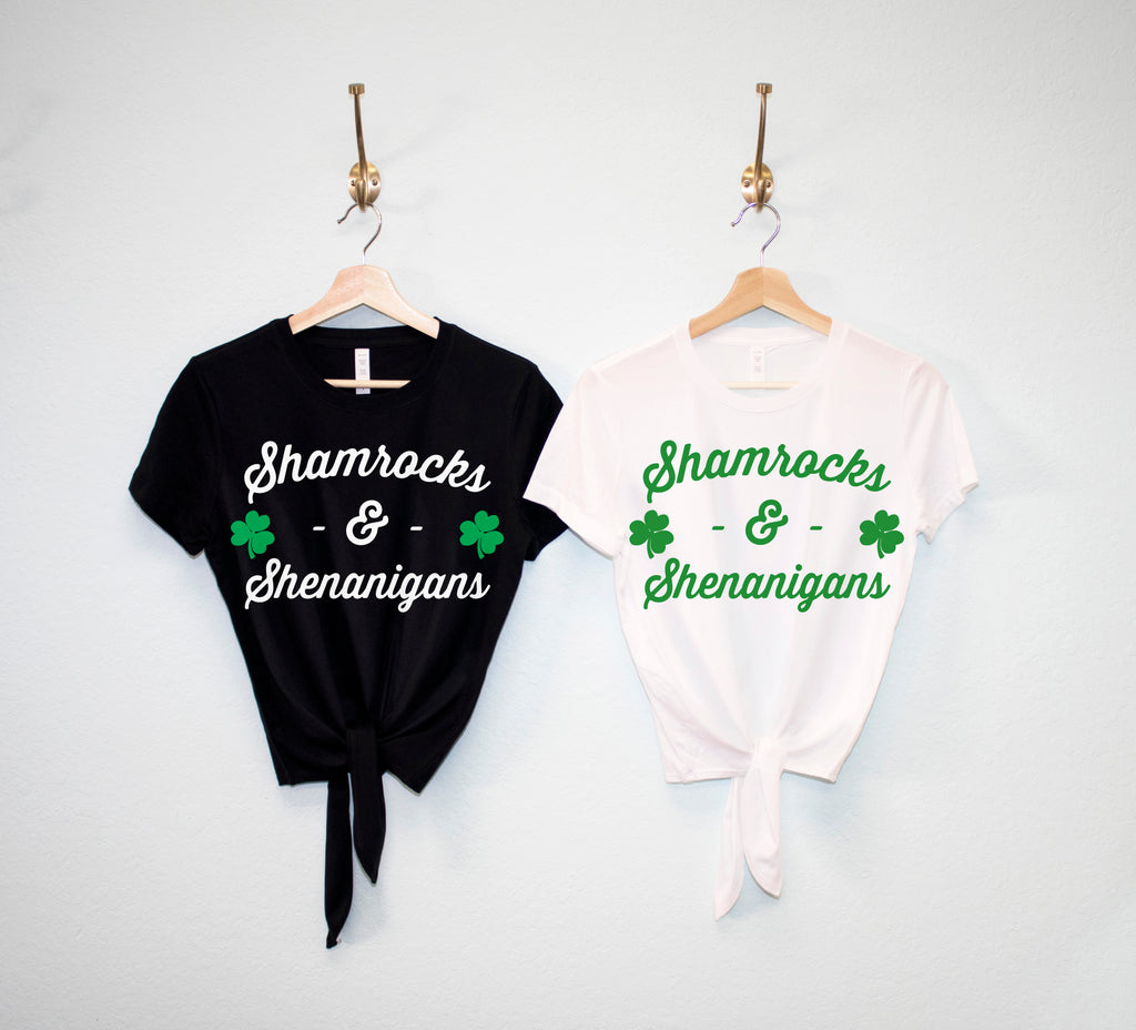 SHAMROCKS & SHENANIGANS St Patrick's Day Crop Top Shirt