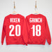 SLEIGH SQUAD Custom Christmas Sweatshirt - Custom Name & Number