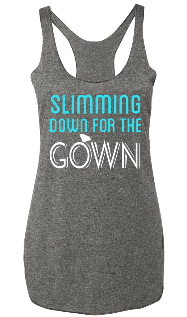 Slimming Down for the Gown Heather Gray Tank Top