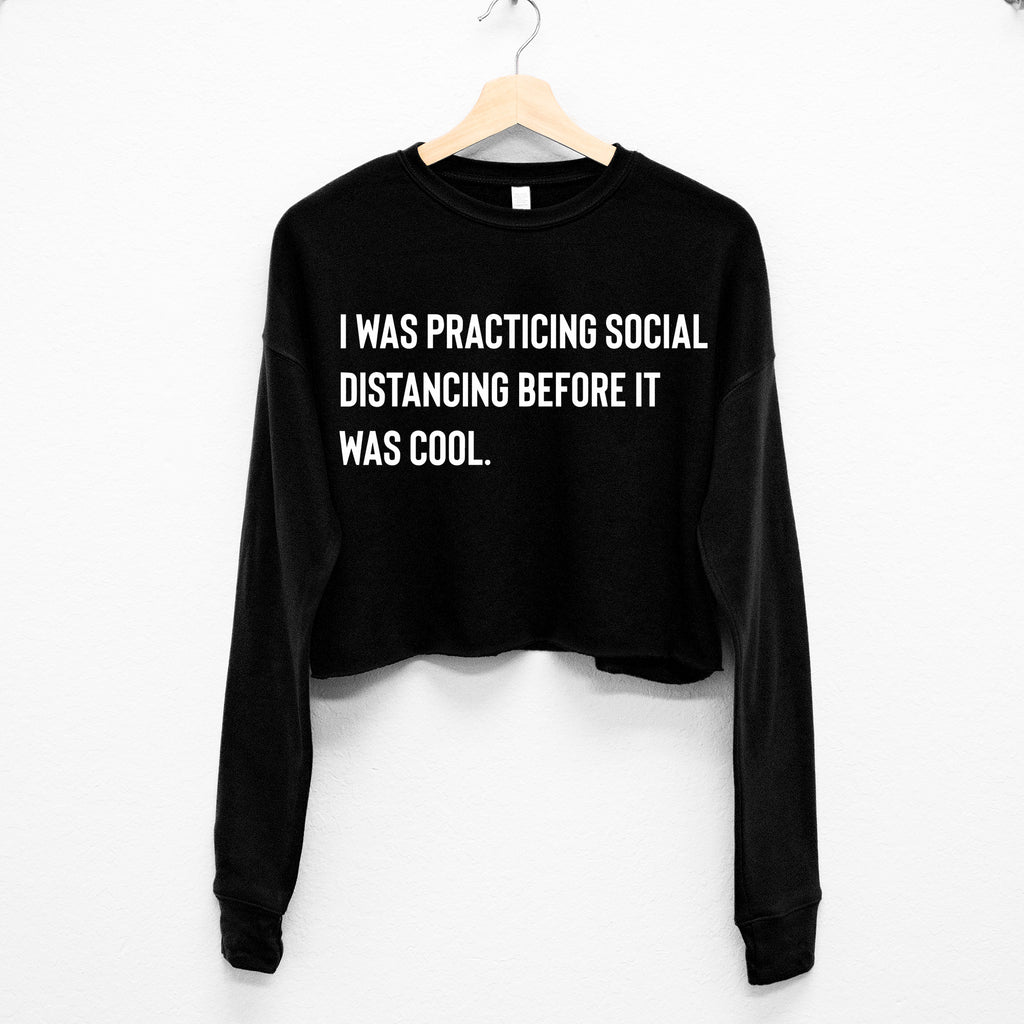 Social Distancing Cropped Sweater