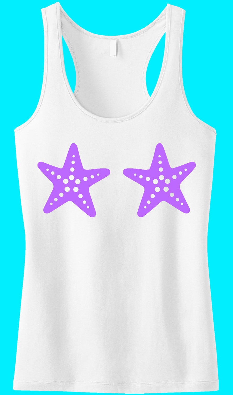 MERMAID Starfish Tank Top Lilac