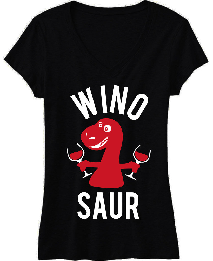 WINO SAUR Black V-neck Shirt