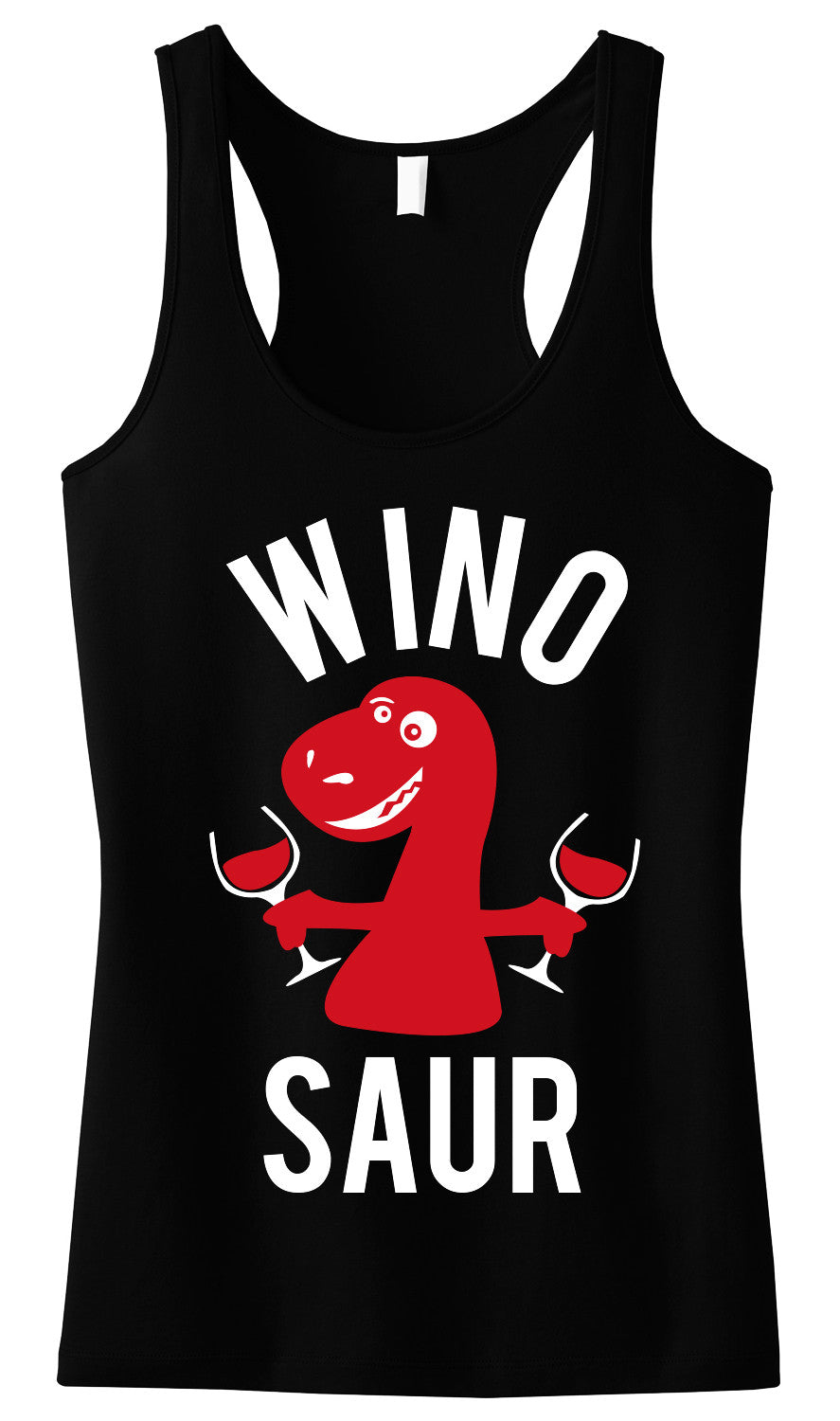 WINO SAUR Black Tank Top