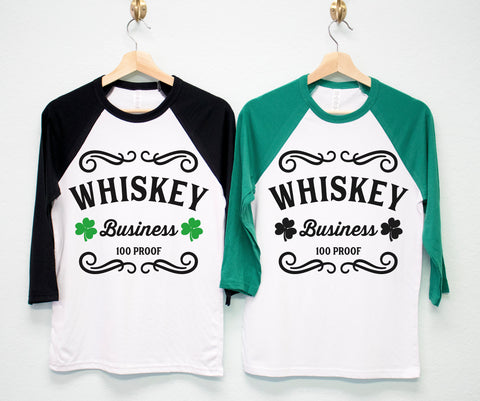 WHISKEY BUSINESS St. Patrick's Day Shirt Unisex