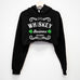 Whiskey Business St. Patrick's Day Cropped Hoodie