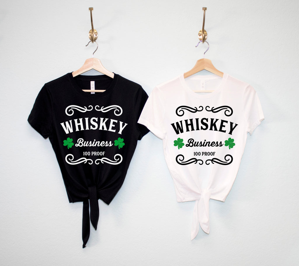 WHISKEY BUSINESS St Patrick's Day Crop Top Shirt