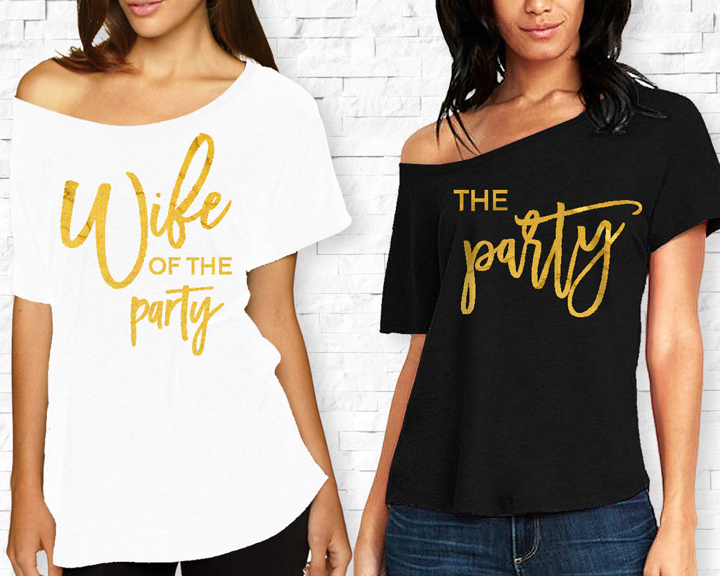 Wife of the Party Off Shoulder Bachelorette Party Shirts