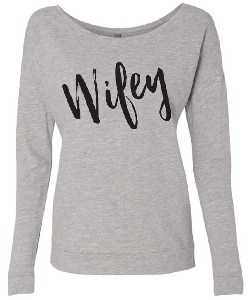 WIFEY Off-Shoulder Sweater