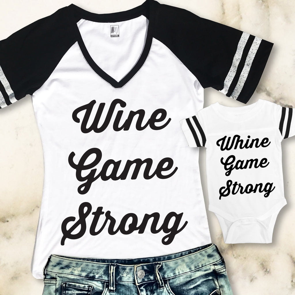 MOMMY & ME Whine Game Shirts Set