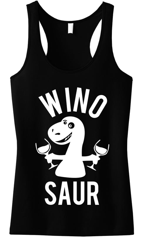 WINO SAUR Tank Top - Many Colors - Black Print