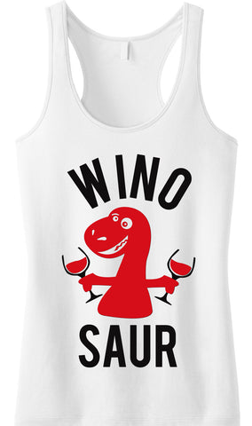 WINO SAUR White Tank Top
