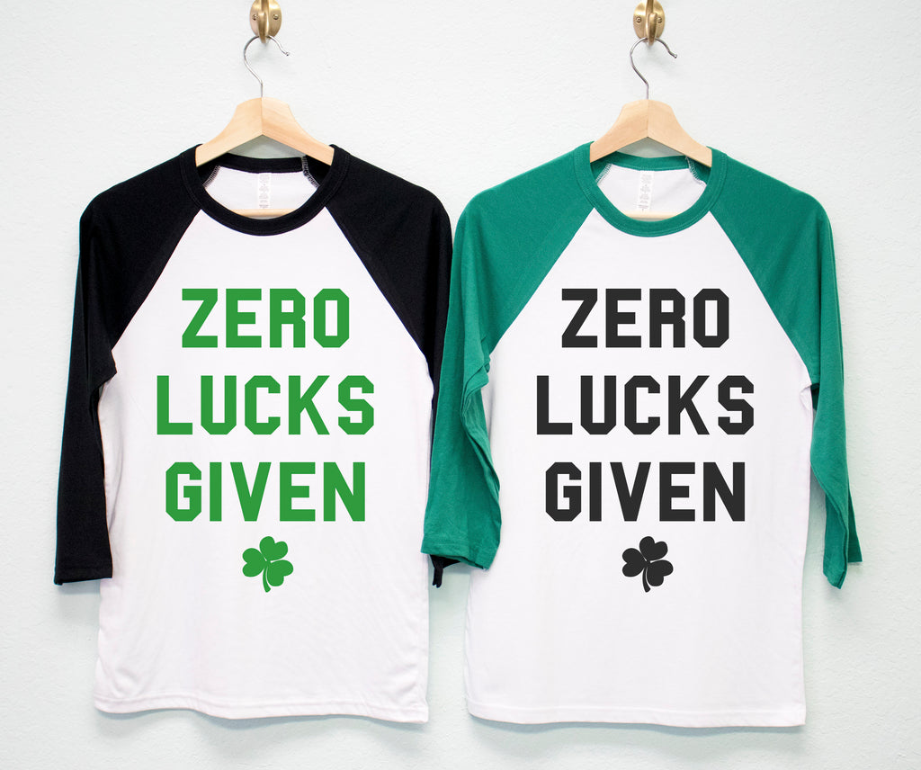 ZERO LUCKS GIVEN St. Patrick's Day Shirt Unisex