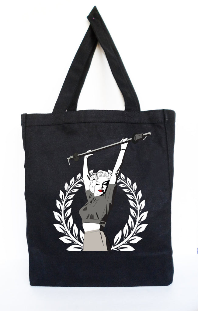 Marilyn Monroe Lifting Workout Tote - Gym/Grocery Bag