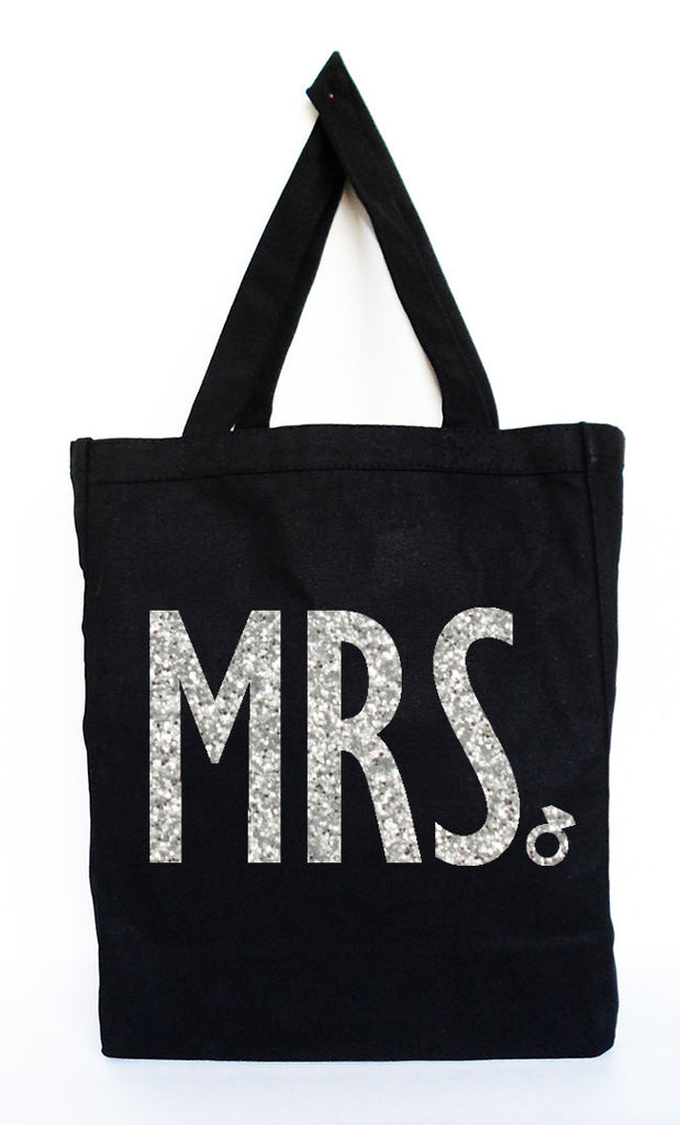 MRS Bride Tote  - Bridal Bag, Wedding Bag, Bridal Gift