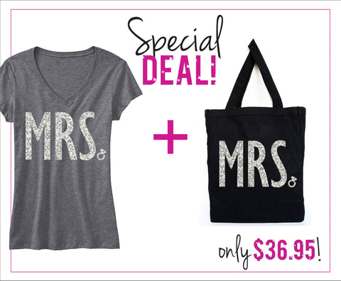 MRS. Glitter Shirt & Tote SPECIAL DEAL