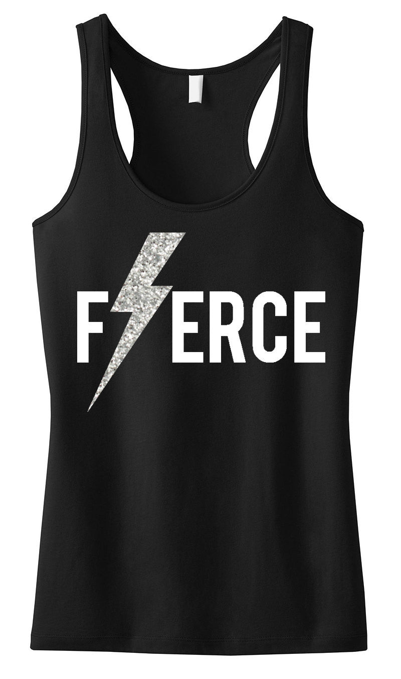 FIERCE Glitter Lightning Tank Top