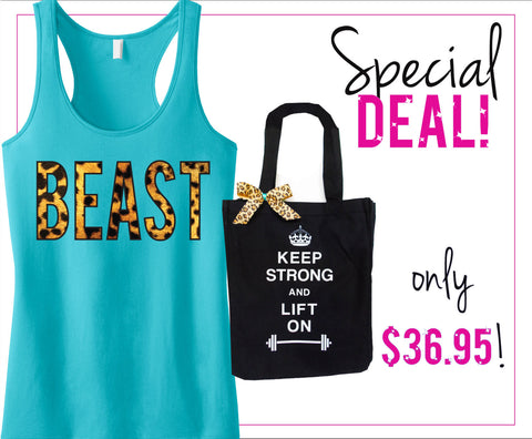 BEAST Leopard Tank Top & Tote Deal