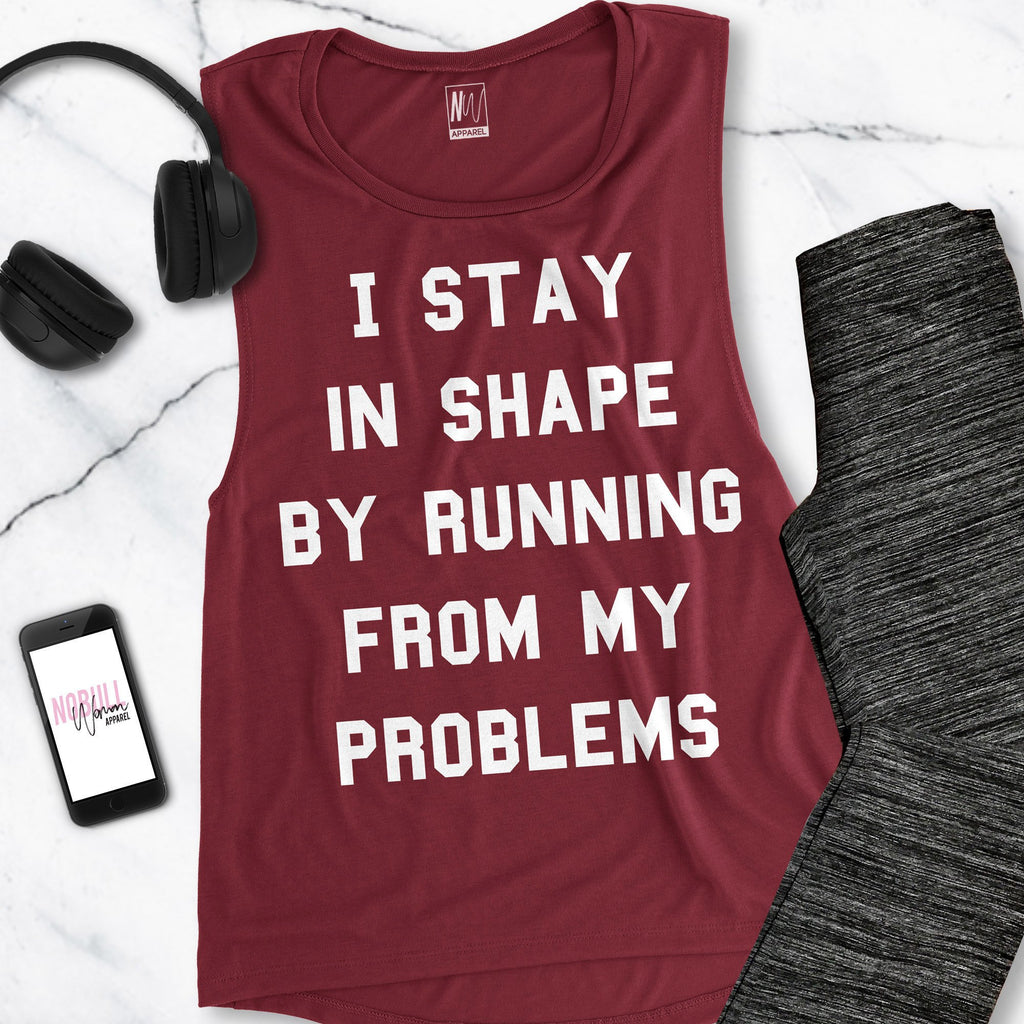Running From Problems Workout Tank Pick Style
