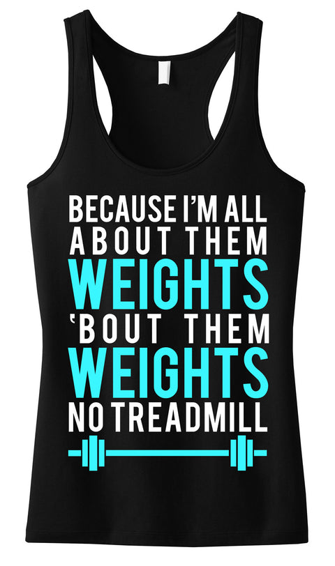 All About Them Weights Black with Teal Tank