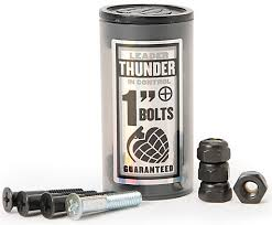 "Thunder 1"" Hardware  Phillips Bolts (8) Black with (2) Silver (8) Black Locknuts"