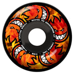 Spitfire Formula FourHell Fire Multi-Ball Wheels 99a 54mm Black with yellow red orange graphics