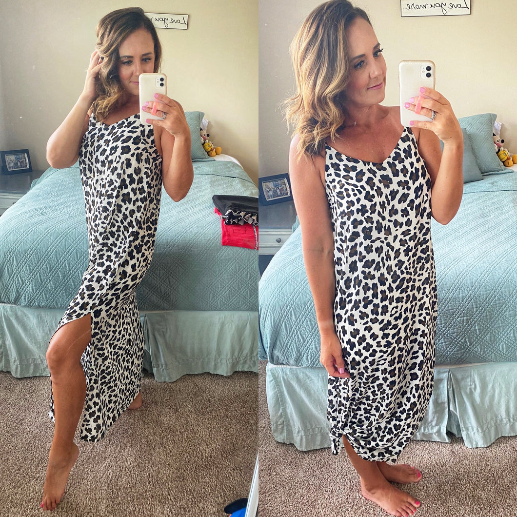 Lindly Leopard Maxi Dress