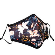 Adult Face Mask In Lily Floral Print| No Valve