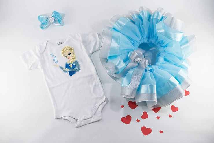 Frozen Tutu Birthday Outfit For Baby Girls