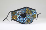 Adult Face Mask Moroccan Print Valve Mask