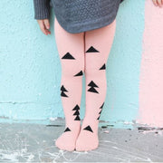 Baby / Toddler Cotton Tights for Autumn / Winter (Trees on dusty pink print)