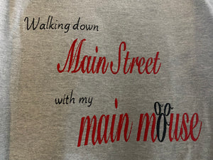 Walking down main street sweatshirt