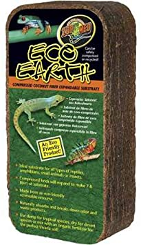 Zoo Med Eco Earth Compressed Coconut Fiber Expandable Substrate - 1 Pack (Makes 7-8 Liters)