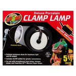 "Zoo Med Deluxe Porcelain Clamp Lamp - Black - 100 Watts (5.5"" Diameter)"