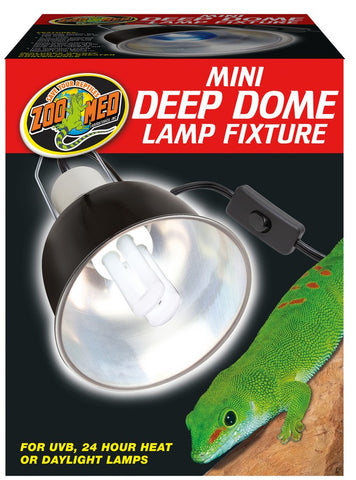Zoo Med Deep Dome Lamp Fixture - Black - 160 Watts